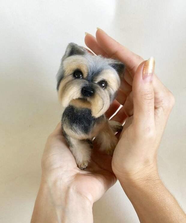 Девушка из Украины делает уникальных собак из шерсти. Они будто сейчас оживут!