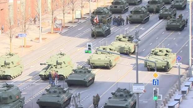 Генеральная репетиция парада Победы в Москве: прямая трансляция