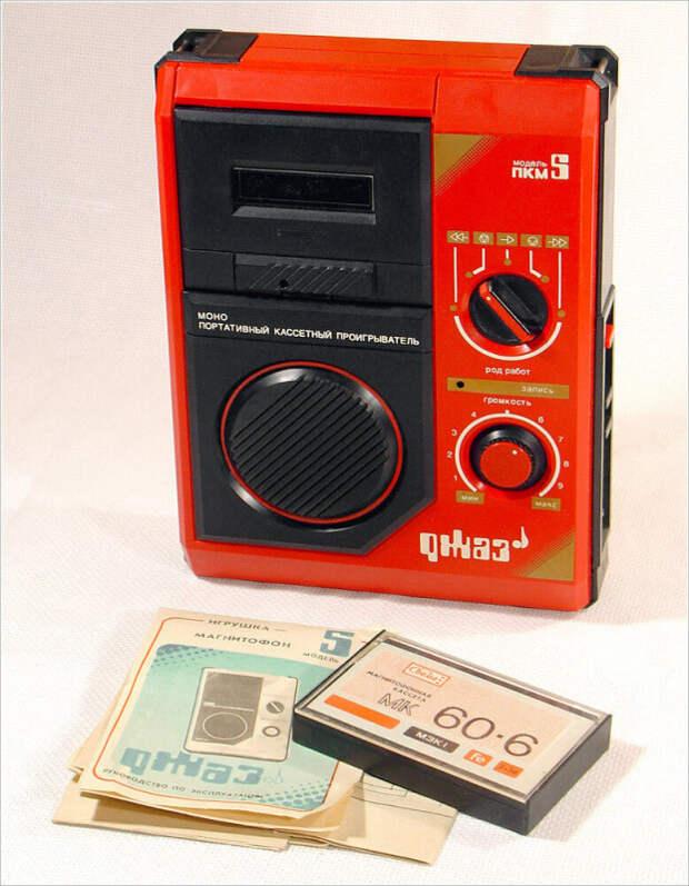 Магнитофоны-игрушки из СССР