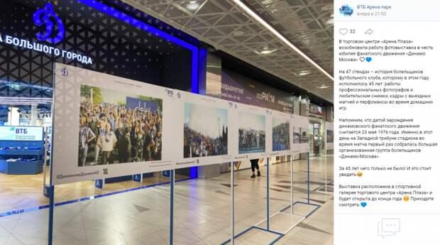 Фотоисторию болельщиков «Динамо» оформили на 47 стендах в «Арене Плазе»
