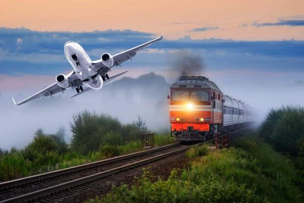 Названы самые дорогие билеты на поезд и самолёт