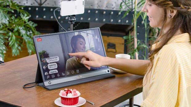 Asus анонсировала 15,6-дюймовый сенсорны монитор ZenScreen Touch для смартфонов