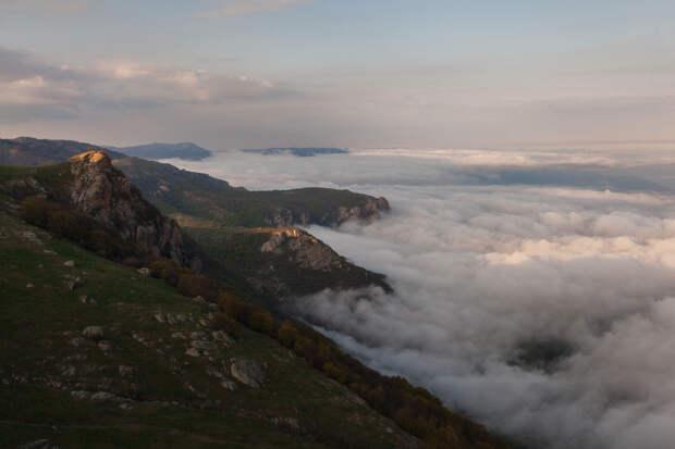 Вид с вершины горы Демерджи