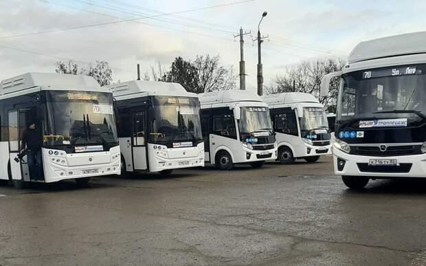 Пять новых автобусов теперь курсируют по маршруту №70 в Симферополе