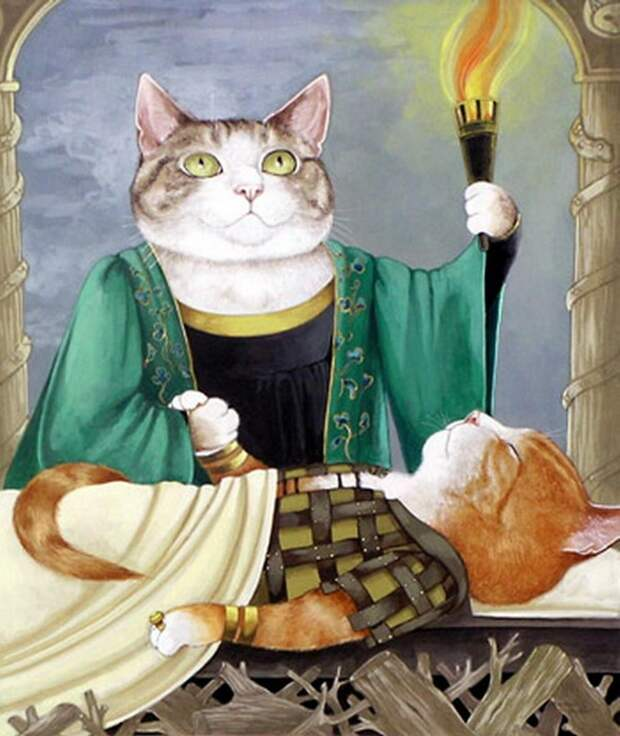 Сьюзен Херберт - Мир - Это театр кошек. Иллюстрации