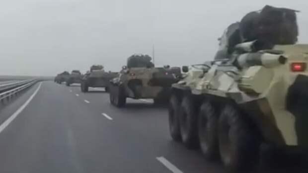Новую колонну военной техники заметили вРостовской области