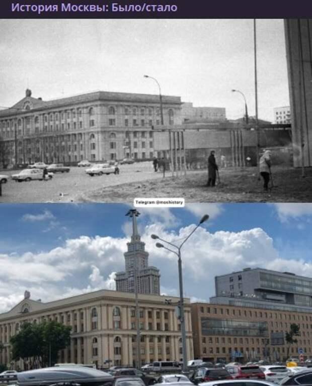 Фото дня: как изменился Ленинградский проспект за 38 лет