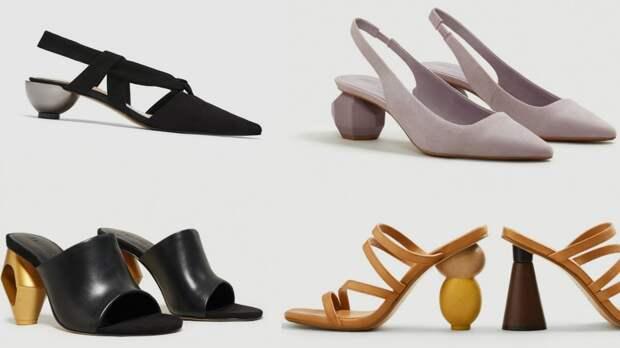 Чем более странный каблук, тем более трендовая обувь.
