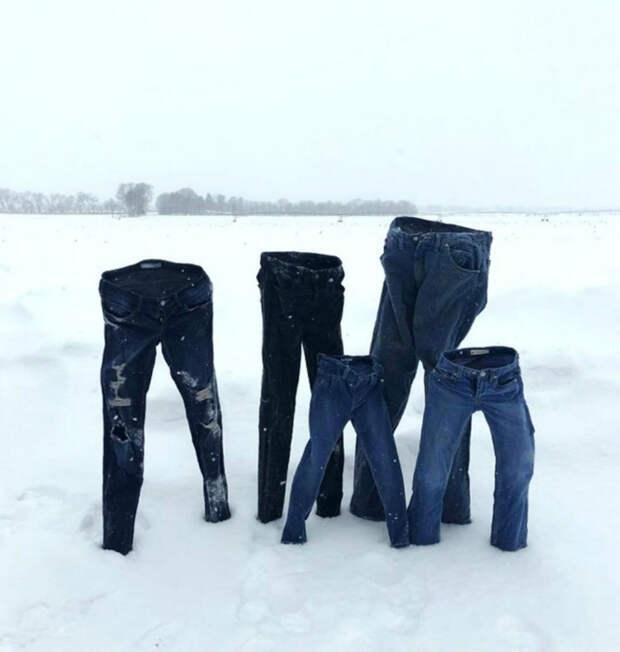 Джинсы замерзли... Очень замерзли!| Фото: Краски мира.