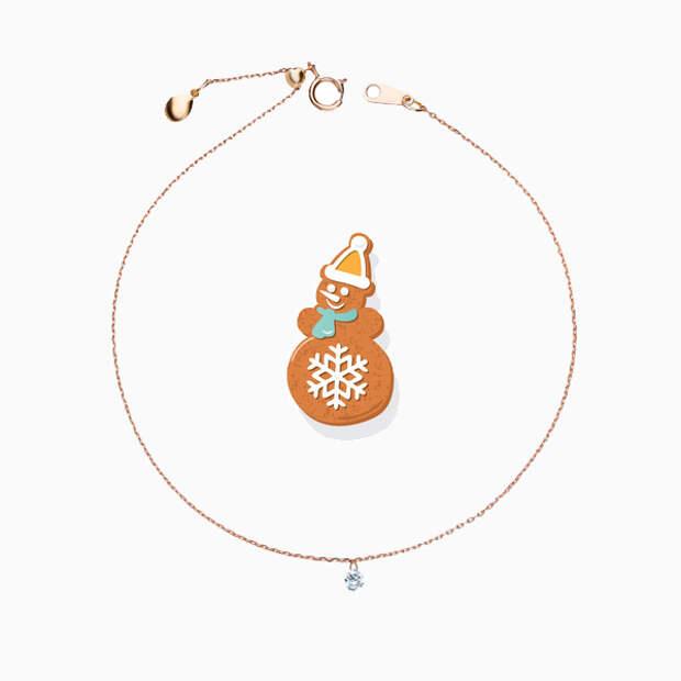 Золотые украшения в подарок до 10 000 рублей на Новый год для семьи и друзей