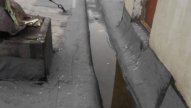 Течь в кровле дома на Московской улице устранили после жалобы жительницы