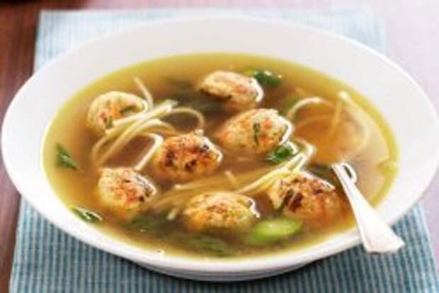 Суп с фрикадельками - вкусное первое блюдо с фаршем