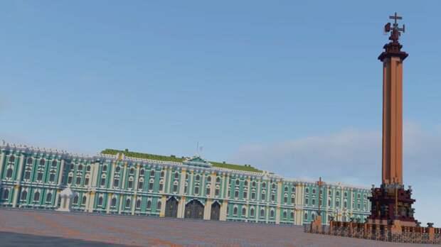 Дизайнеры поздравили Петербург с Днем города необычным видео в стиле Minecraft
