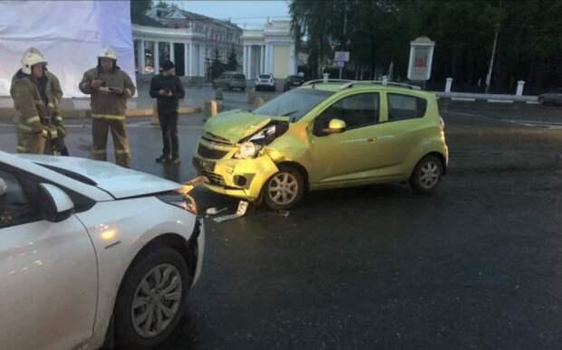 В аварии в центре Рязани пострадал четырёхлетний ребёнок