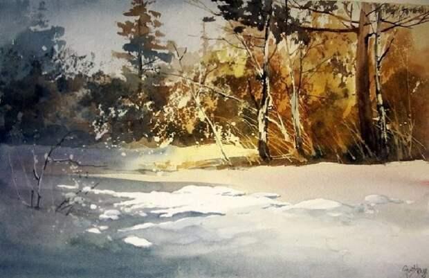 Зимние пейзажи от Aud Rye.