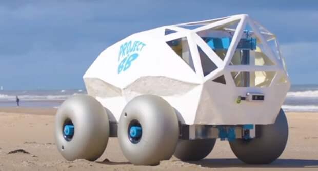 Создан автомобиль для сбора окурков