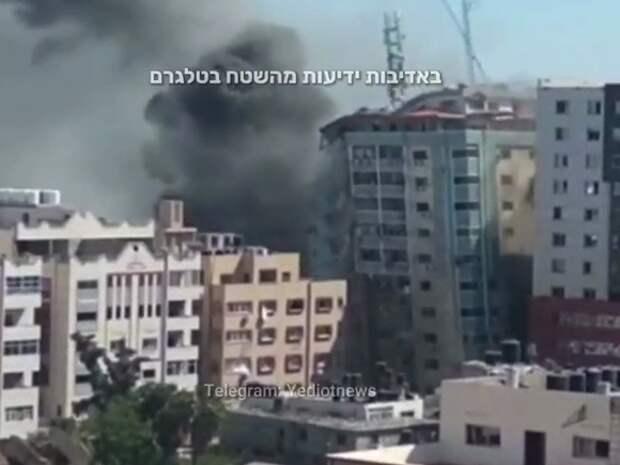 Высотка в секторе Газа обрушилась после авиаудара Израиля