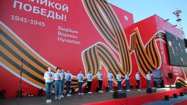 На празднование Дня Победы пришли более 70 тысяч жителей Ижевска