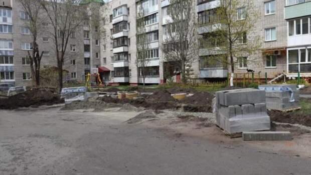 К благоустройству ещё двух дворов приступили в Барнауле