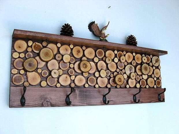 Спилы с небольших веточек в декоре интерьера. Интересная фактура и идеи декорирования!