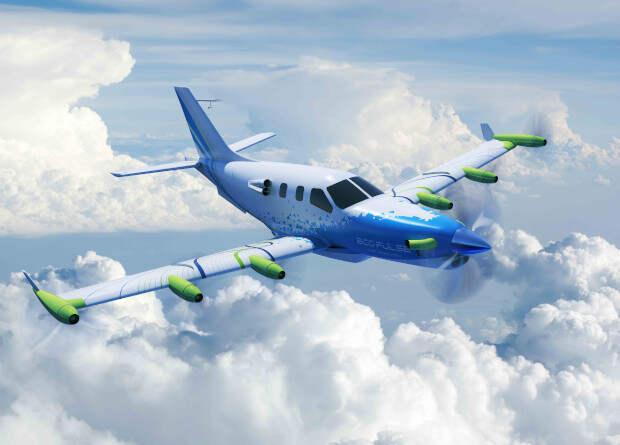 Французы испытают семимоторный пассажирский гибридный самолет