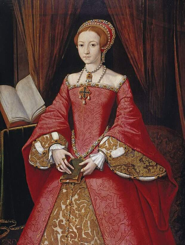 Портрет 13-летней Елизаветы. 1543.