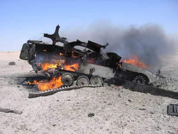 Турецкий БТР, появившийся у российской базы в Сирии, уничтожен ракетой