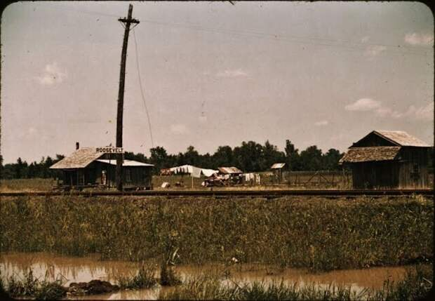 Сельский пейзаж в Луизиане, 1940 год