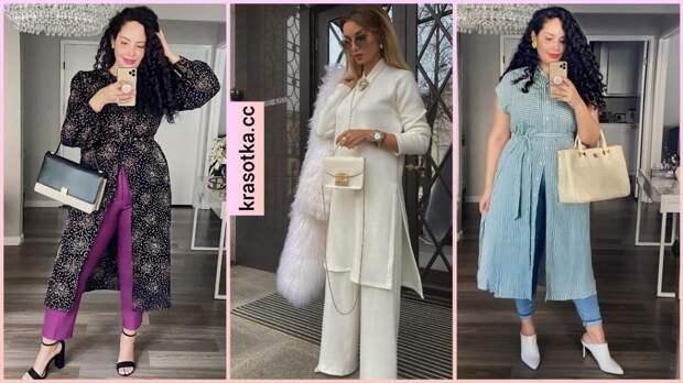 13 стильных примеров как лучше носить платье с брюками и джинсами
