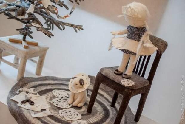 Удивительные игрушки из войлока