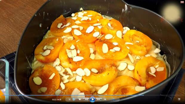 Пирог с абрикосами. Яркий вкус  лета. Пирог, Еда, Кулинария, С дедом за обедом, Выпечка, Видео, Длиннопост