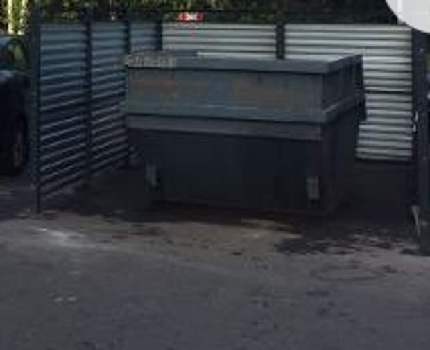 На Долгопрудной очистили мусорные контейнеры по просьбам жителей