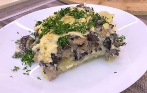 Запеченная картошка с грибами (Картофель с грибами в духовке). Как готовить сморчки