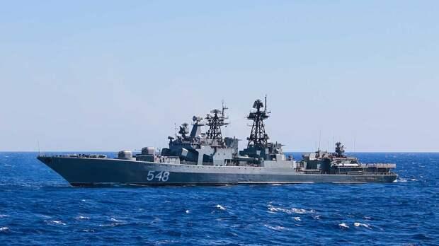 Минобороны развернуло российские корабли в Тихом океане