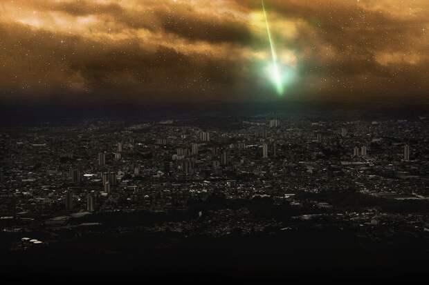 Светящийся метеорит пролетел над Тибетом
