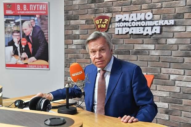 """Сенатор Пушков посоветовал Байдену перестать мечтать о """"зависимой и угодливой"""" России"""