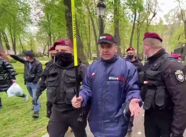 Лидера SaveФОП Доротича задержали за пикет перед Блинкеном
