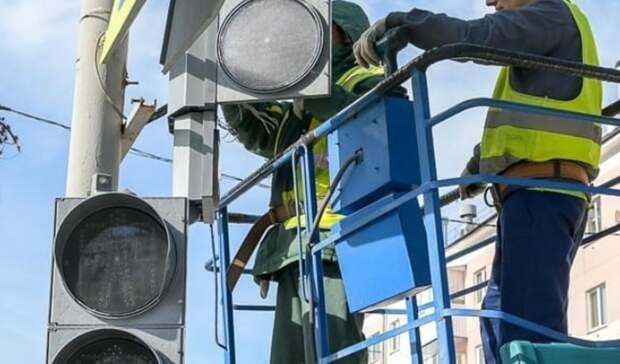 Вцентре Нижнего Тагила появился первый светофор ссекцией для водителей
