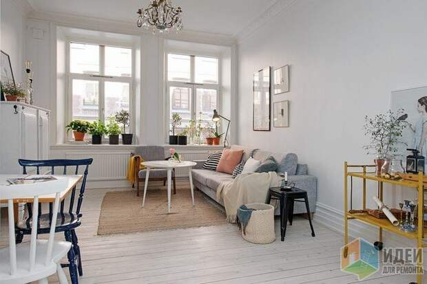 Гостиная в скандинавском стиле, фото Alvhem.com