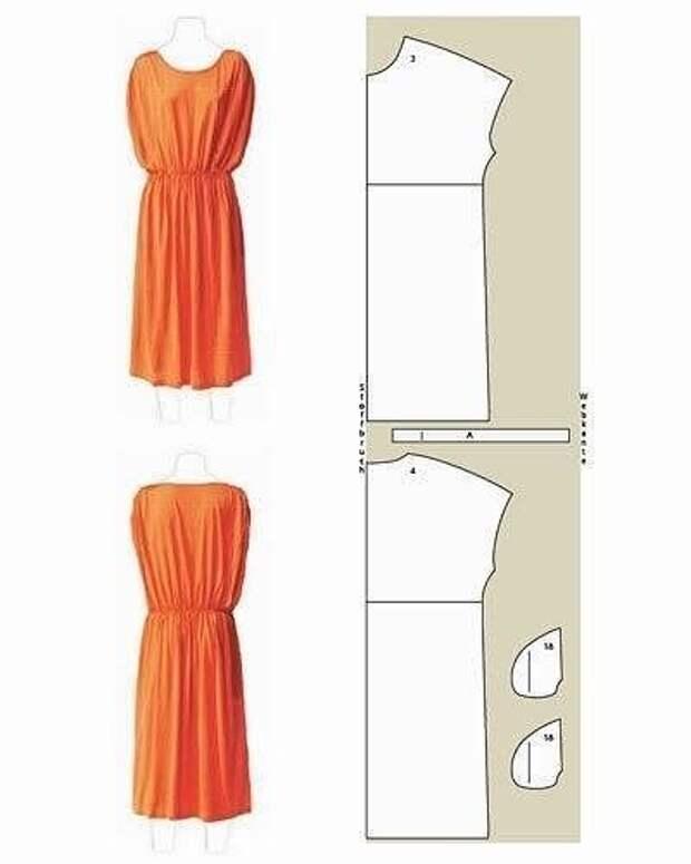 Платье можно сшить своими руками. Простые модели, выкройки