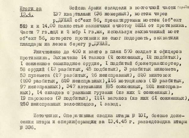 Журнал боевых действий 4-й гвардейской армии 3-го Украинского фронта