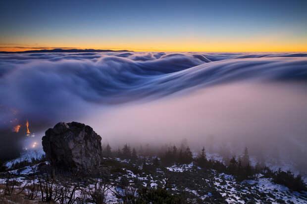 Красивейший туман в Чехии