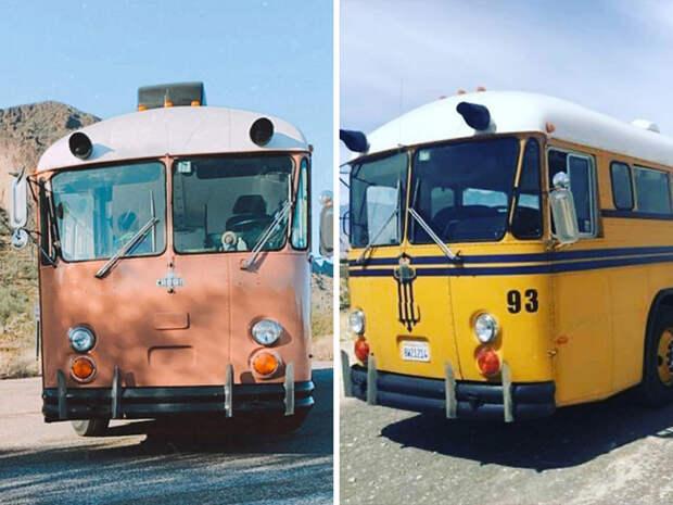 В школьном автобусе получился вполне благоустроенный дом площадью 28 кв. м (Adelita). | Фото: boredpanda.com.