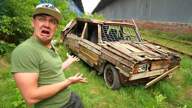 Водителя деревянных «Жигулей» оштрафовали после поездки по городу (видео)
