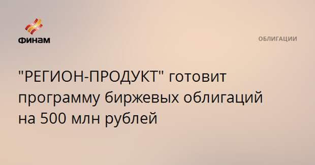 """""""РЕГИОН-ПРОДУКТ"""" готовит программу биржевых облигаций на 500 млн рублей"""