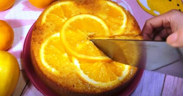 1 апельсин, 2 яйца и яркий, ароматный торт готов