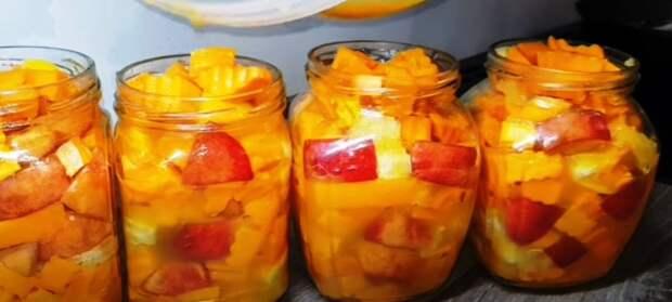 Съели банку за раз! Сочное нектариновое манго из тыквы на зиму