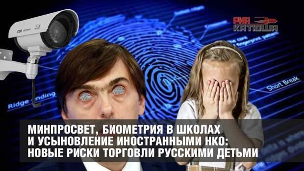Минпросвет, биометрия в школах и усыновление иностранными НКО: новые риски торговли русскими детьми