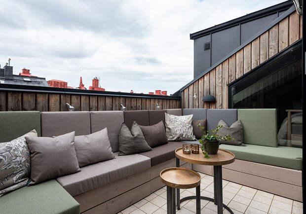 Шведский чердак с интерьером в индустриальном стиле (66 кв. м)