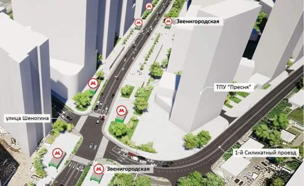 В Хорошёво-Мнёвниках началось общественное обсуждение проекта ТПУ «Пресня»